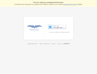 megsoftconsulting.harvestapp.com screenshot