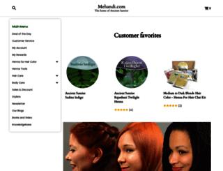mehandi.com screenshot