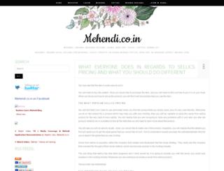 mehendi.co.in screenshot