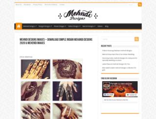 mehndidesigns.in.net screenshot