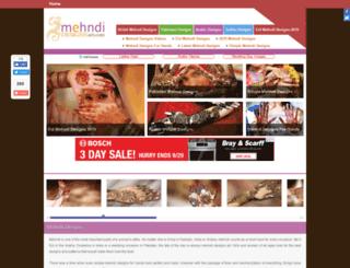 mehndidesignsart.com screenshot