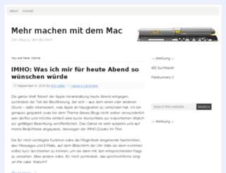 mehrmachenmitdemmac.com screenshot