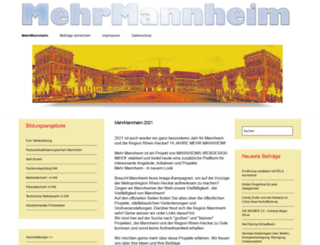 mehrmannheim.de screenshot