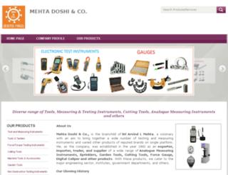 mehtadoshiandco.tradeindia.com screenshot
