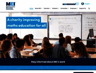 mei.org.uk screenshot