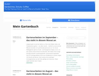 mein-gartenbuch.de screenshot
