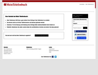 mein1.dastelefonbuch.de screenshot