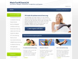 meintarifscheck24.de screenshot