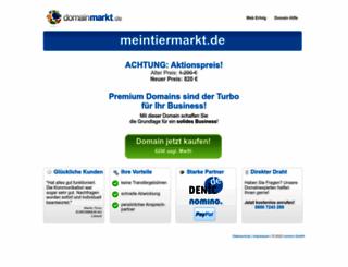 meintiermarkt.de screenshot