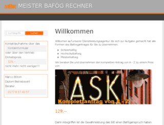 meister-bafoeg-rechner.de screenshot