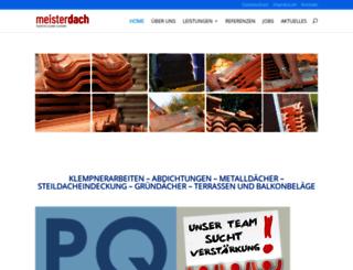 meisterdach-online.de screenshot