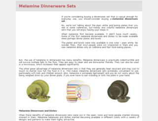 melaminedinnerwaresets.com screenshot