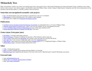 melancholytree.com screenshot