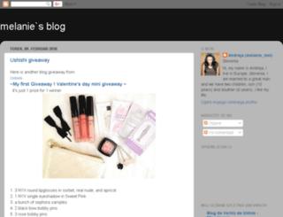 melanie-s-blog.blogspot.com screenshot