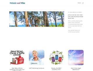 melanieandmiles.com screenshot