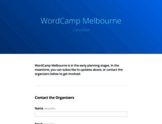 melbourne.wordcamp.org screenshot