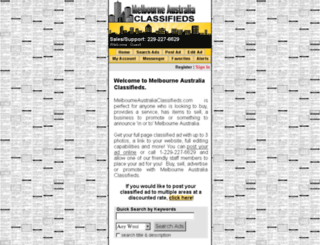 melbourneaustraliaclassifieds.com screenshot