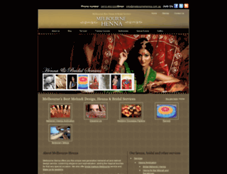 melbournehenna.com.au screenshot