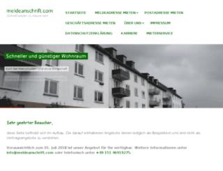meldeanschrift.com screenshot
