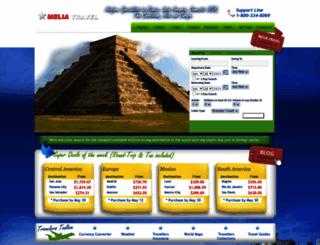 meliatravel.com screenshot