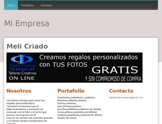 melicriado.jimdo.com screenshot