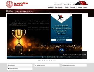 melikgazi.meb.gov.tr screenshot