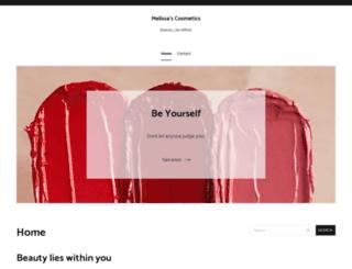 melissapagecosmetics.com screenshot