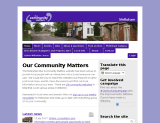 melksham.ourcommunitymatters.org.uk screenshot