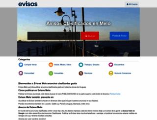 melo.evisos.com.uy screenshot