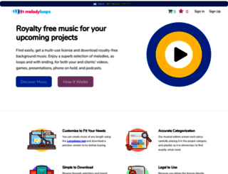 melodyloops.com screenshot