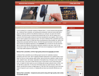 melroseparklocksmiths.biz screenshot