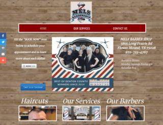 melsbarbershop.com screenshot