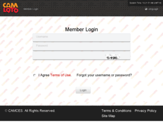 member.camces.com screenshot