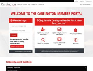 member.careington.com screenshot