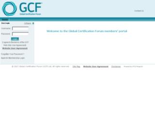 member.globalcertificationforum.org screenshot