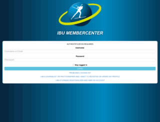 membercenter.biathlonresults.com screenshot