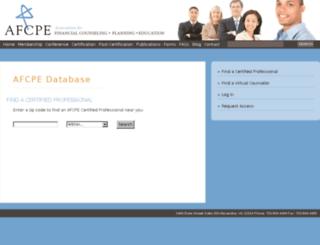 members.afcpe.org screenshot