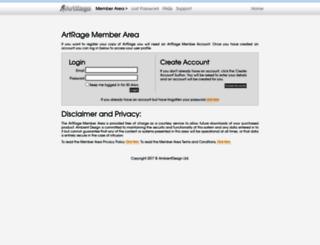 members.artrage.com screenshot