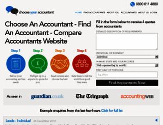 members.choose-your-accountant.co.uk screenshot