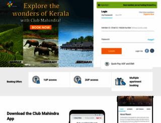members.clubmahindra.com screenshot
