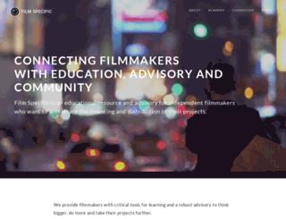 members.filmspecific.com screenshot