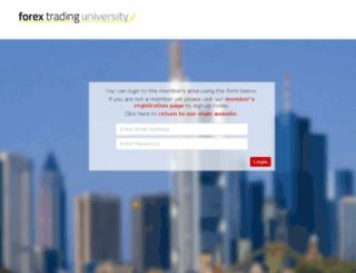 members.forextradinguniversity.co.uk screenshot