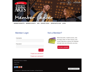 members.jerseyarts.com screenshot