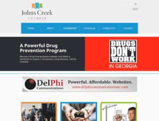 members.johnscreekchamber.com screenshot