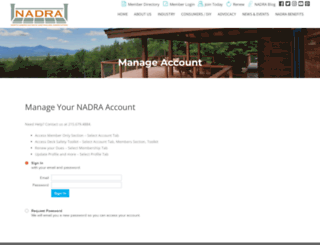 members.nadra.org screenshot