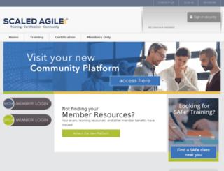 members.scaledagile.com screenshot