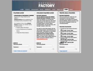 members.softballfactory.com screenshot