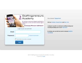 members.staffingpreneursacademy.com screenshot