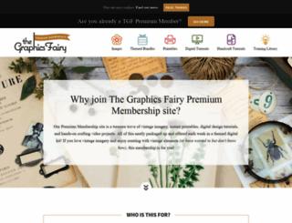 members.thegraphicsfairy.com screenshot
