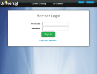 members.universalclass.com screenshot